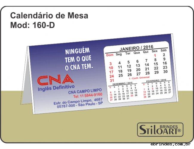 Calendários de Mesa 160-D