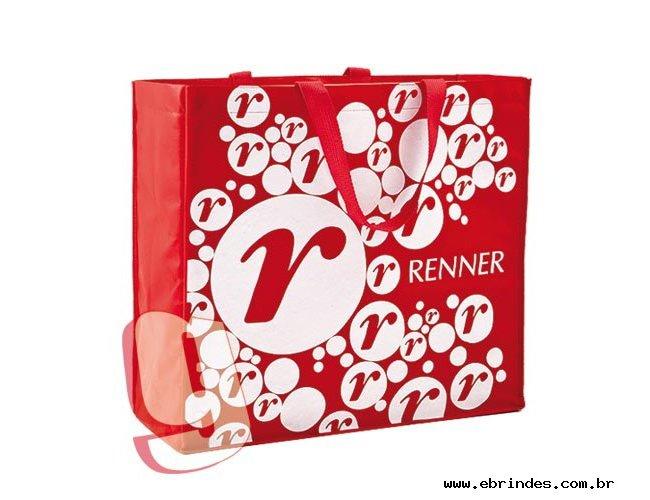 Sacola de TNT, modelo caixa