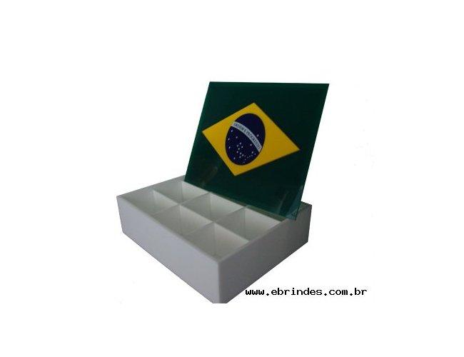 Caixa para presente - Bandeira do Brasil