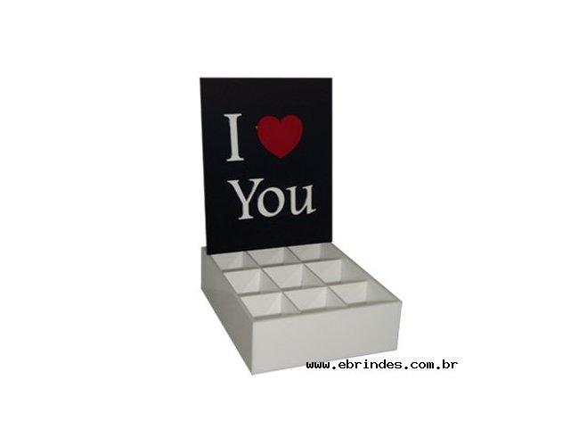Caixa para Presente - I Love You