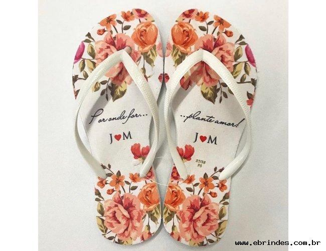 Sandália para Casamento - Chinelos Personalizados