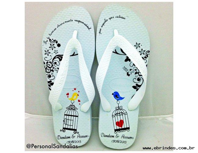 Sandalia Havaianas Personalizadas em até 4 cores (casamento, aniversarios, formaturas etc)