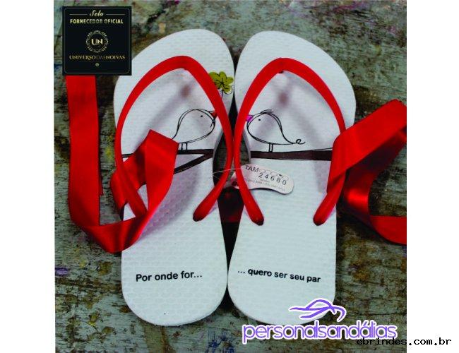 Sandalia Personalizada para Casamento (chinelo borracha)