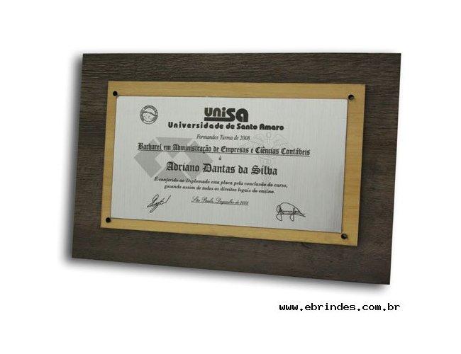 placa de homenagem