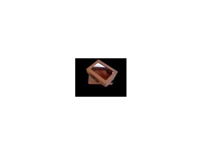 Caixa Kraft com visor 14x11,5x4,0