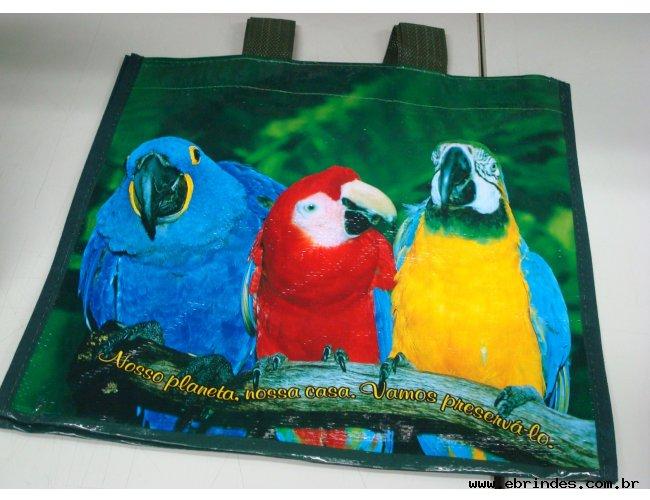 sacola de rafia bopp - impressão fotografica