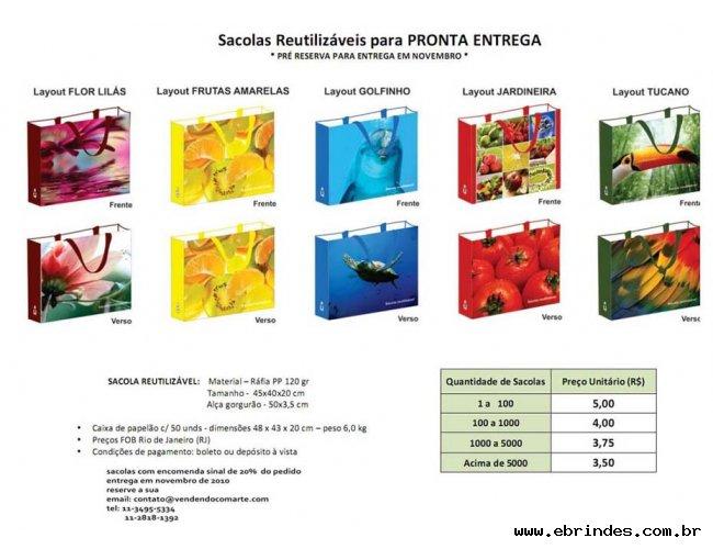 sacola de Rafia Impressão Fotográfica