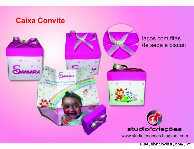 Caixa Convite - Convite Formato Caixa