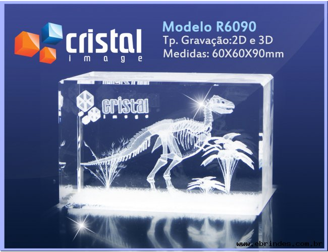 Bloco Cristal Gravação Laser