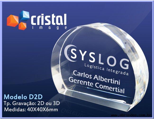 Cristal Gravação laser