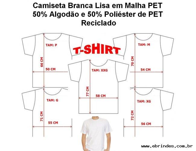 CAMISETA EM MALHA PET=R$29,90