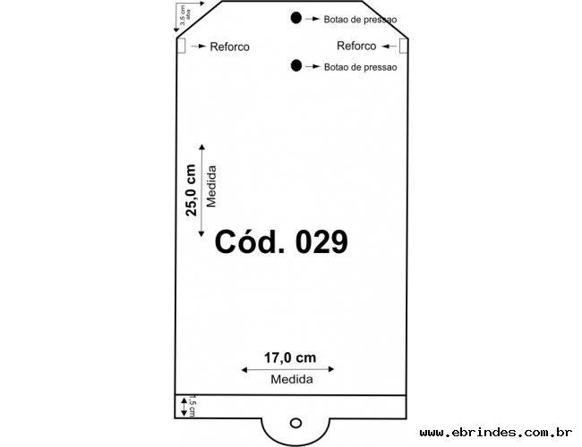Embalagem PVC  17x25,5 para cabide