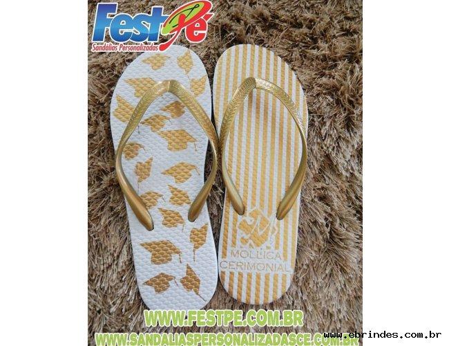 Sandálias personalizadas e chinelos personalizados