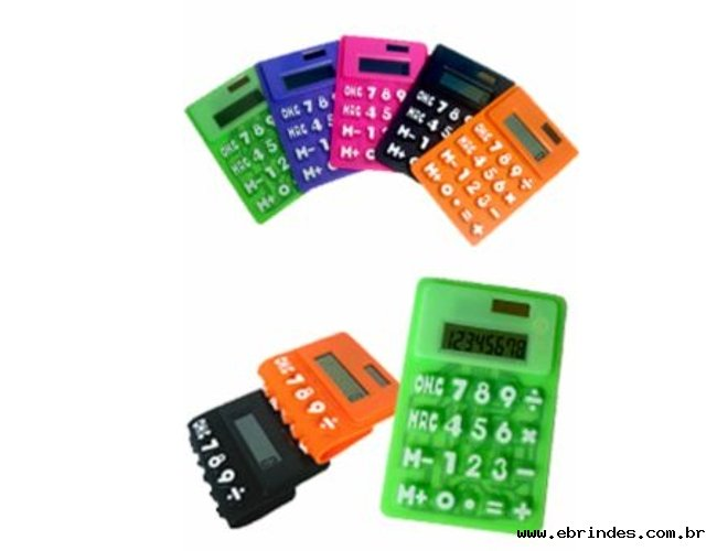 Calculadora Flexível Emborrachada