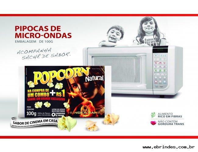 Popcorn microondas - Com a Sua Marca
