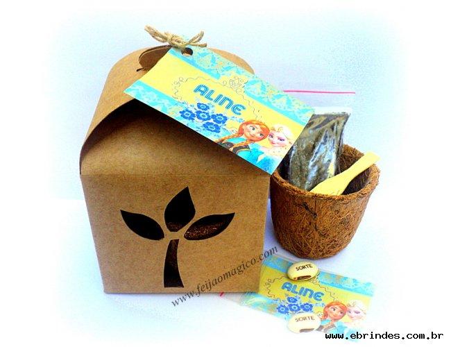 KIT ECO com vaso em fibra de coco
