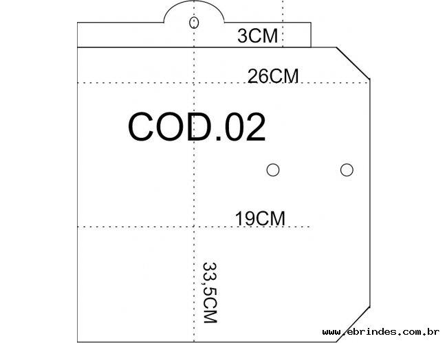EMBALAGEM PVC COM BOTÃO 33 X 23CM