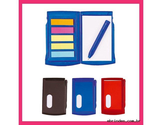 Bloco de anotação com Etiquetas Adesivas