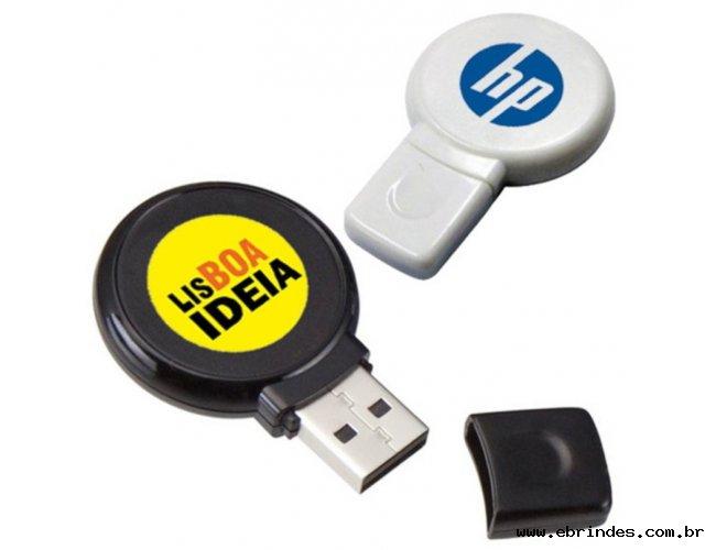 Pendrive Redondo Personalizado 4 GB